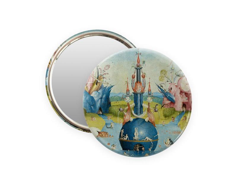 Miroir de poche,  Ø 80mm, Jheronimus Bosch, jardin des délices terrestres