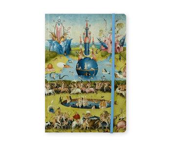 Cuaderno de tapa blanda, A5,  Jheronimus Bosch, Jardín de las delicias