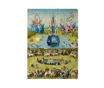 Carpeta archivadora de papel con cierre elástico, A4,  Jheronimus Bosch, Jardín de las delicias