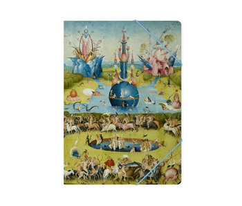 Paper file folder with elastic closure,A4,  Jheronimus Bosch, Garden of Earthly Delights