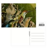 Postal,  Hieronymus Bosch, Jardín de las delicias