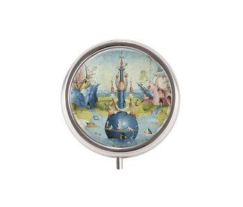 Pillendose,  Hieronymus Bosch, Garten der irdischen Freuden