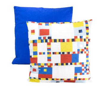 Cushion cover, 45x45 cm,  Mondrian, Victory Boogie Woogie