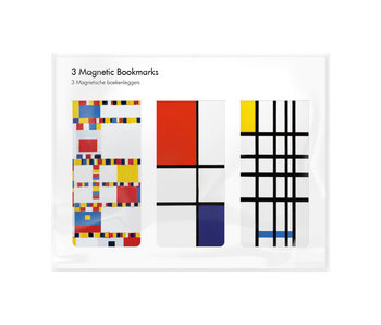 Juego de 3, marcapaginas magnético,Mondrian