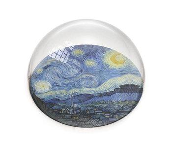 Glazen bolle  presse papier, Sterrennacht, Vincent van Gogh