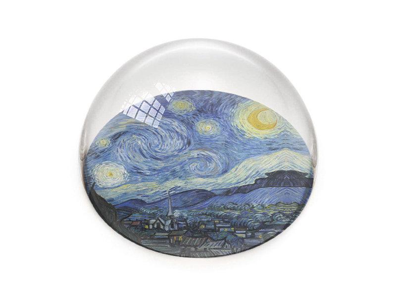 Presse-papier en verre, La nuit étoilée, Vincent van Gogh