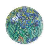Glazen bolle  presse papier, Iris, Vincent van Gogh