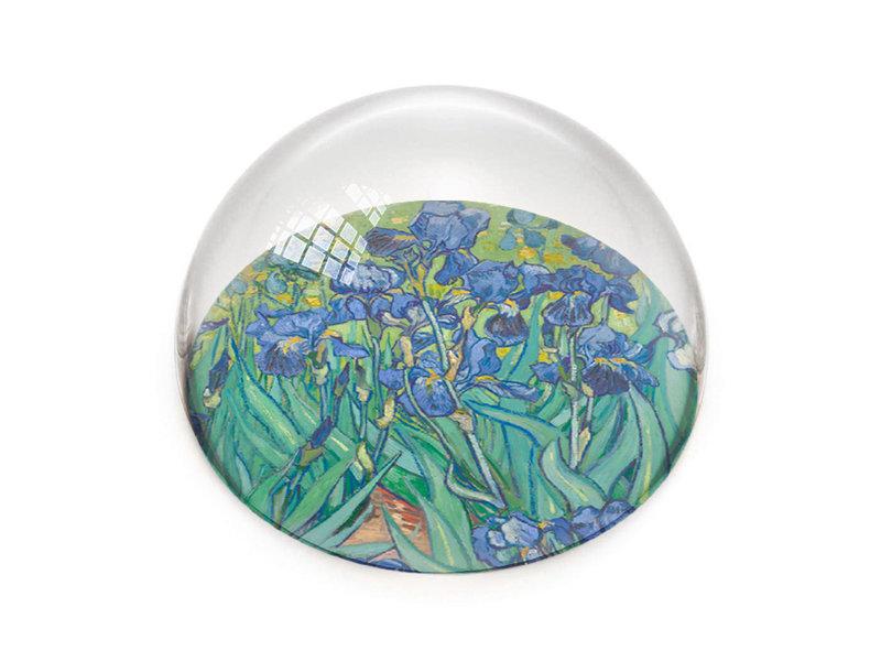 Pisapapeles de vidrio, Iris, Vincent van Gogh