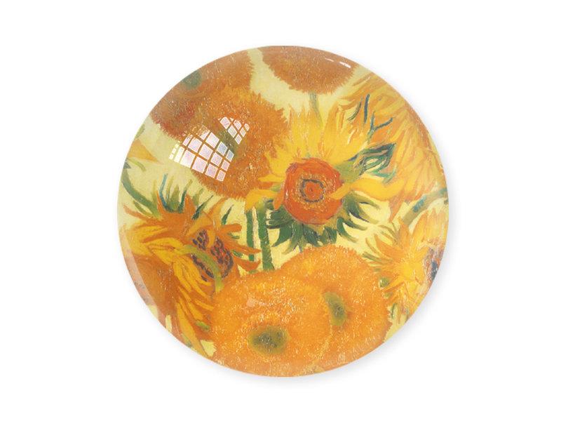 Pisapapeles de vidrio, Girasoles, Vincent van Gogh