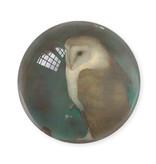 Presse-papier en verre,  Jan Mankes, hibou