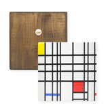Maîtres-sur-bois, Mondrian,  composition with yellow-blue-and-red