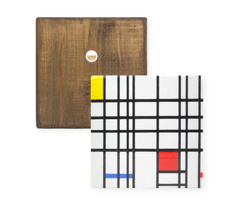 Meister auf Holz, Mondriaan ,  composition with yellow-blue-and-red