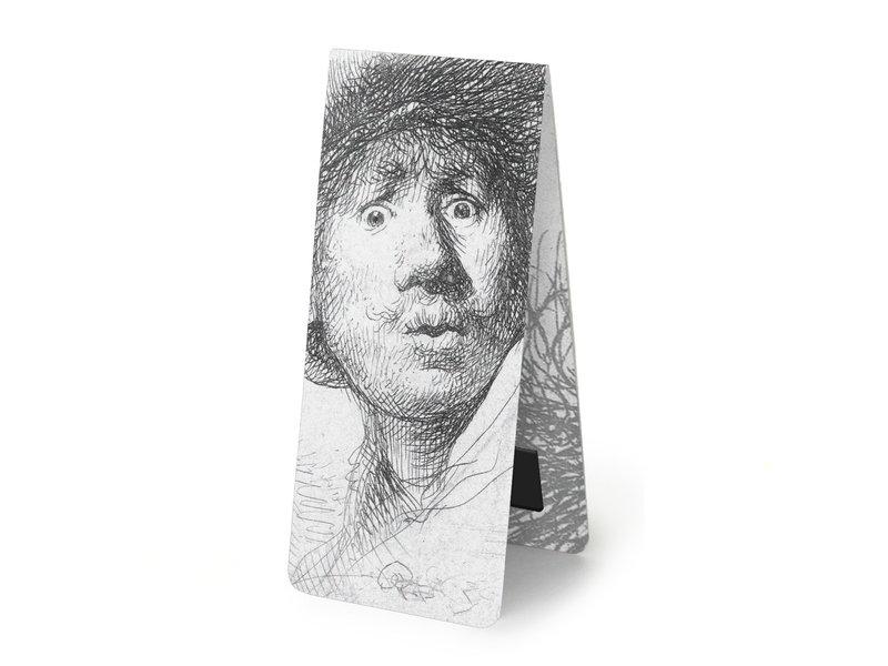 Marque-page magnétique, Rembrandt, regard surpris