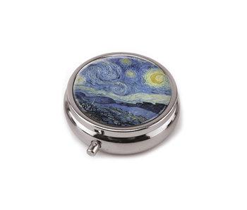Pillbox , Starry night, Vincent van Gogh