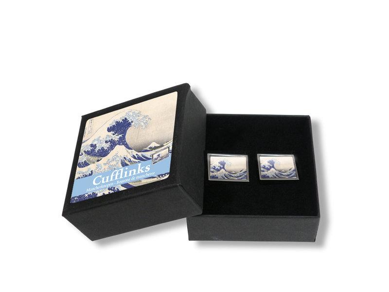 Manchetknopen,  Hokusai, De grote Golf