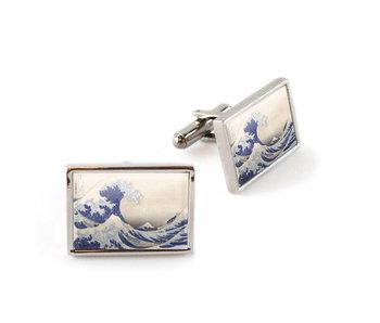 Boutons de manchette, Hokusai, la grande vague