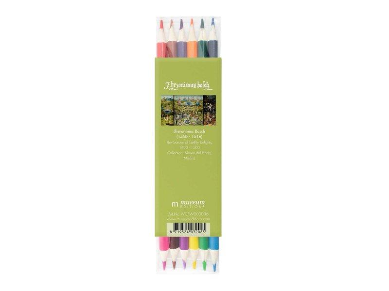 Ensemble de crayons de couleur,Le Jardin des délices, Jheronimus Bosch