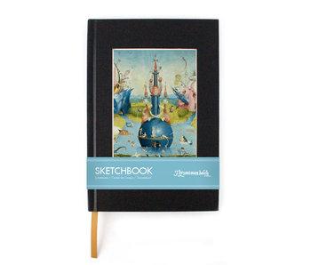 Cuaderno de dibujo de postal, El jardín de las delicias, Jheronimus Bosch