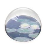 Presse-papier en verre,  nymphéas, effet du soir, Monet