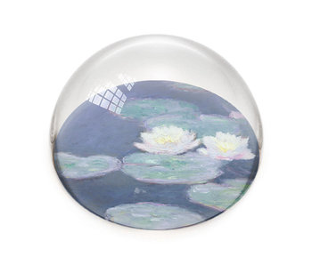 Pisapapeles de vidrio,  Monet, Nenúfares a la luz del atardecer