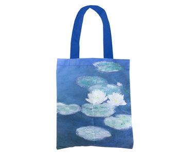 Katoenen tas Luxe, Monet, Waterlelies in avondlicht