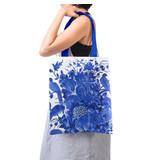 Bolsa de algodón con forro, Pájaros azules de Delft