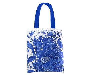 Katoenen tas Luxe, Delfts blauwe vogels