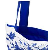 Sac en coton, avec doublure, Oiseaux bleus de Delft