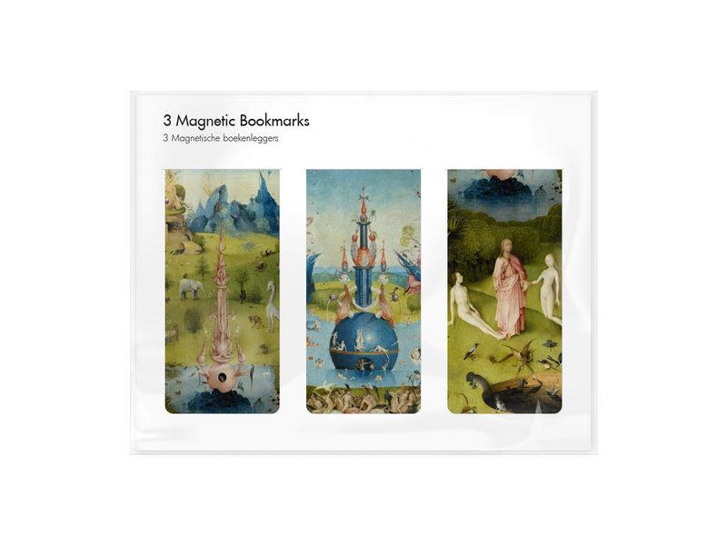 Juego de 3, marcapaginas magnético, Hieronymus Bosch
