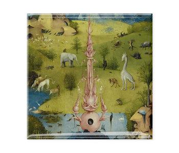 Koelkastmagneet, Tuin der Lusten, Jheronimus Bosch  1