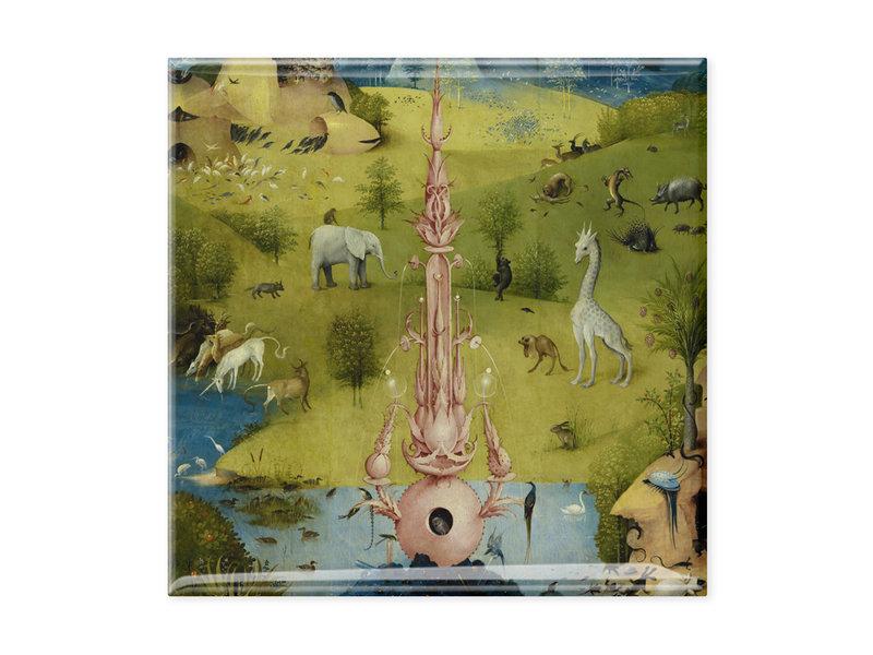 Imán de nevera, paseo marítimo, El jardín de las delicias, Hieronymus Bosch 1