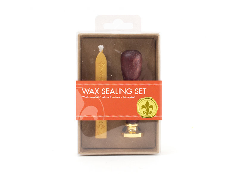 Wax sealing set, Lily stamp