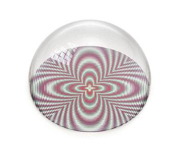 Glazen bolle  presse papier,  Optische kunst , kleur