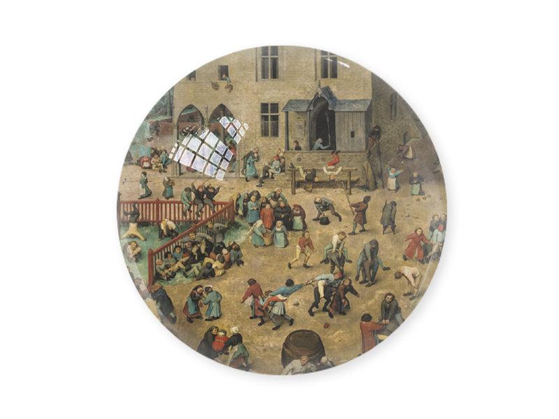 Presse-papier en verre,  Brueghel, Jeux pour enfants