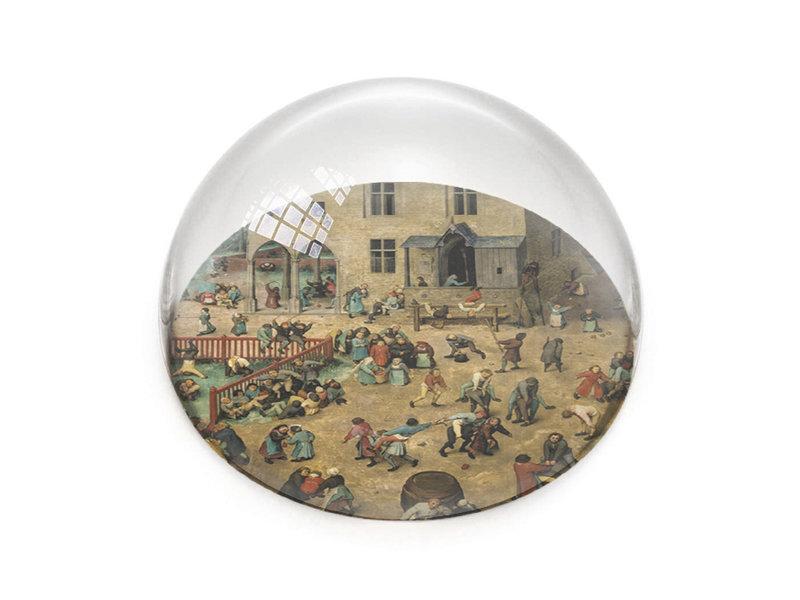 Glazen bolle  presse papier, Brueghel, Kinderspelen