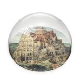 Glazen bolle  presse papier, Brueghel,Toren van Babel