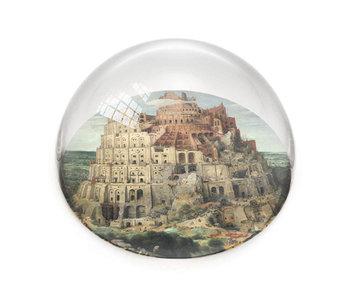 Glazen bolle  presse papier,  Brueghel, Toren van Babel