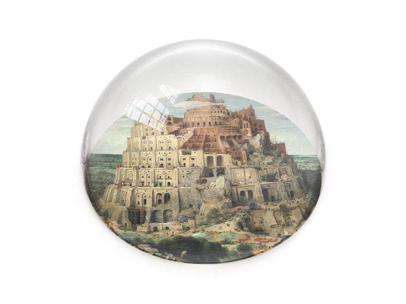 Briefbeschwerer,  Brueghel, Turm von Babylon