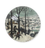 Glazen bolle  presse papier, Brueghel, Jagers In de Sneeuw