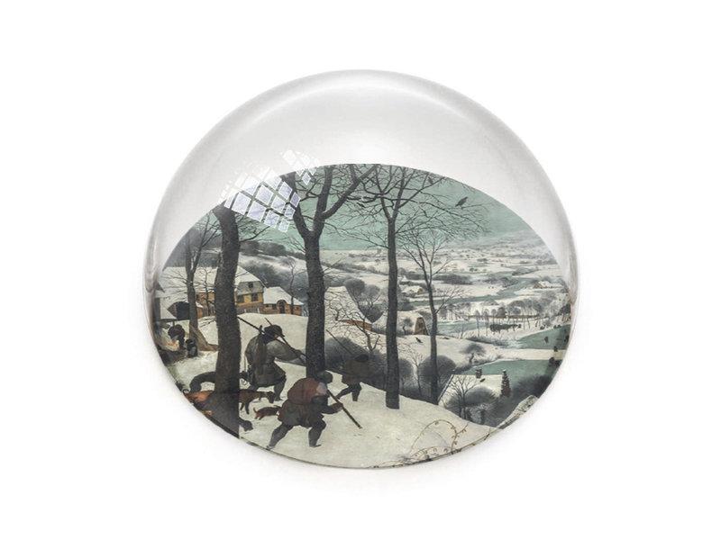 Pisapapeles de vidrio, Brueghel, cazadores en la nieve