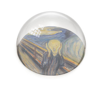 Glazen bolle  presse papier, Edvard Munch, De Schreeuw
