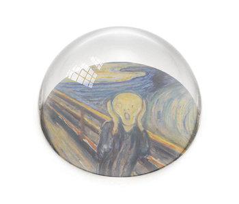 Presse-papier en verre, Munch, le cri