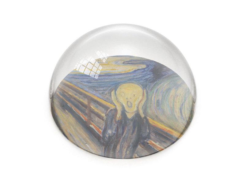 Pisapapeles de vidrio, Munch, el grito