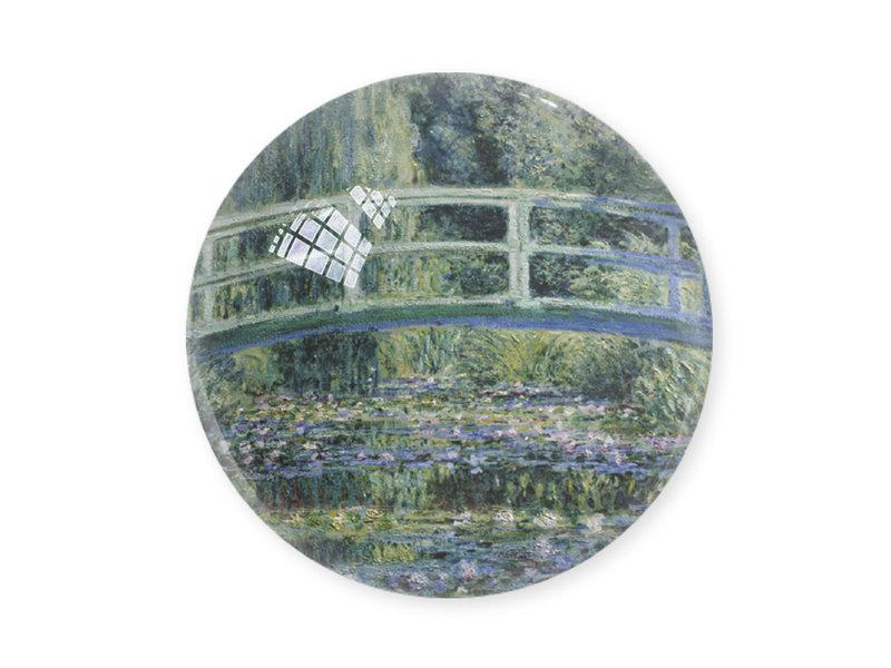Presse-papier en verre,  Monet, Puente japonés