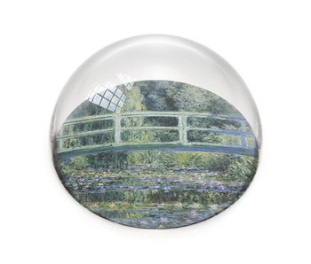 Glazen bolle  presse papier, Monet, Japanse brug