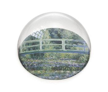 Presse-papier en verre, Monet, Pont japonais