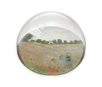 Presse-papier en verre, Monet, Champ de coquelicots