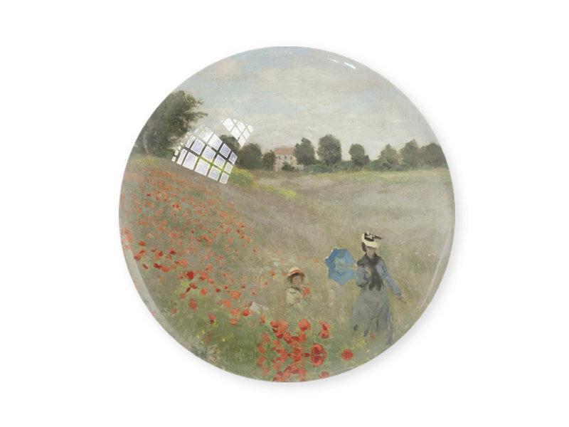 Briefbeschwerer,  Monet, Mohnfeld