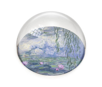 Glazen bolle  presse papier, Monet, Waterlelies