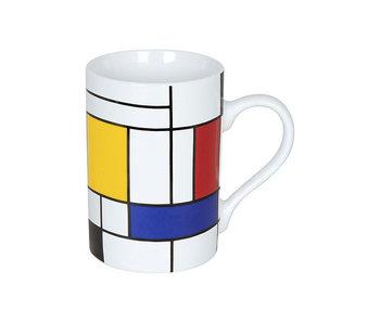 Tasse ,Hommage Mondriaan - Grands fragments